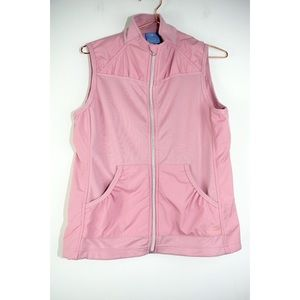 Charles River Apparel Small Pink Zip Breeze Vest